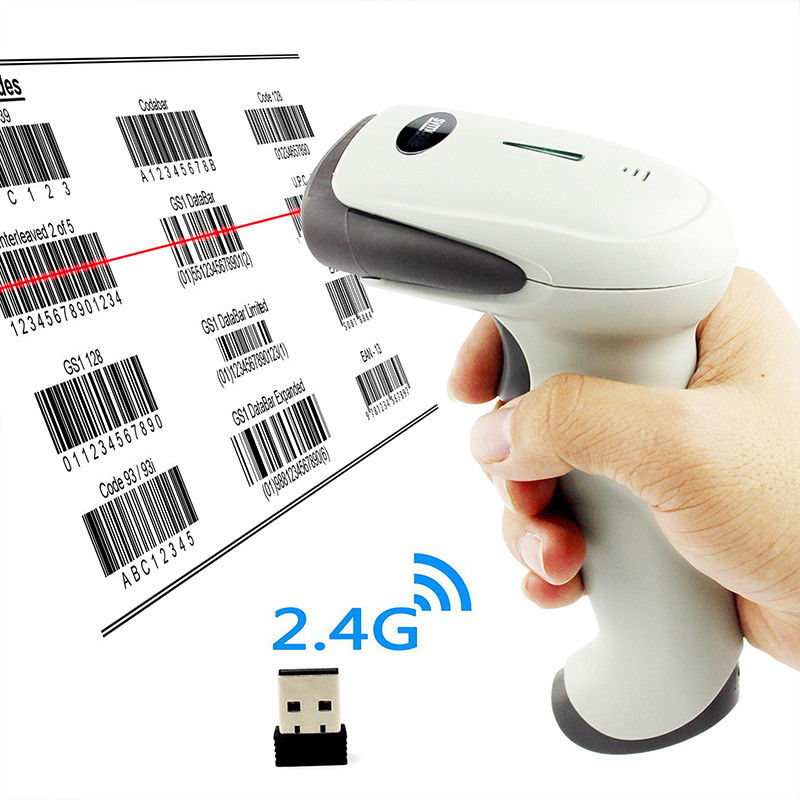 Dual Mode Symcode Wireless Barcode Scanner USB Receiver And Built - In 512K Memory