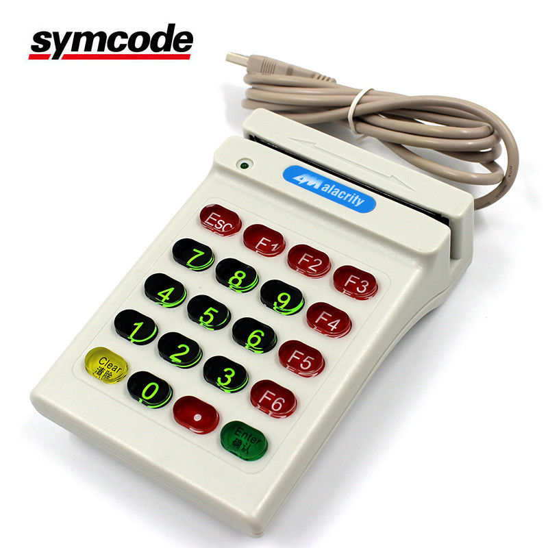 Card Swipe Reader / Magnetic Stripe Reader Recognize Many Kinds Barcode